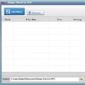 Simpo Word to PDF 2.2.1 screenshot