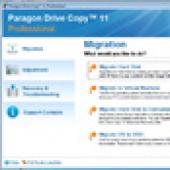Paragon Drive Copy Professional 11 screenshot