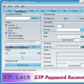 KRyLack ZIP Password Recovery 3.70 screenshot