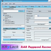 KRyLack RAR Password Recovery 3.70 screenshot