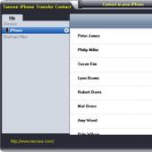 Tansee iPhone Contact Copy 1.0.0.0 screenshot